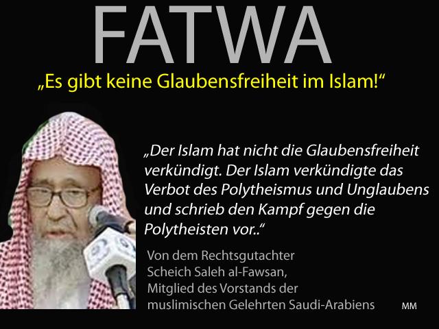 Fatwa Glaubensfreiheit