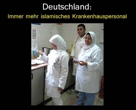 Krankenhaus islamisches Personal