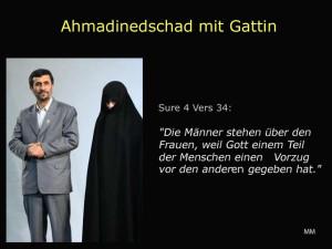 Ahmadinedschad mit Gattin