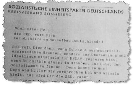 NSDAP-SED Papier