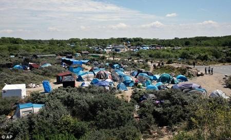 Zeltlager vor Calais