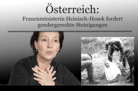 oesterreichs frauenministerin fordert gendergerechte steinigungen islam verschwiegen