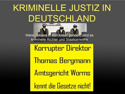 Kriminelle Richter und Staatsanwälte sind maßgeblich an der ...